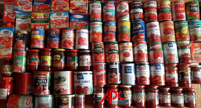 78% din bulionul și pasta de tomate trebuie retrase de pe piață