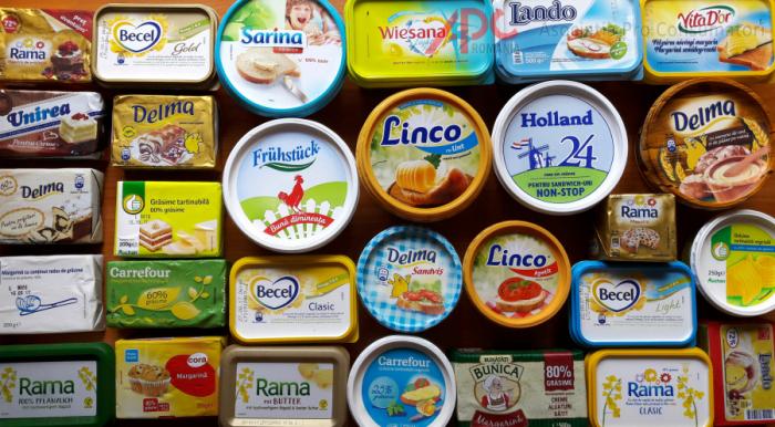 Margarină cu aromă de unt și conservanți!