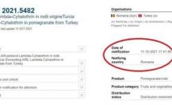 Rodii din Turcia cu insecticid de 4,8 ori mai mult decât limita maxim admisă!