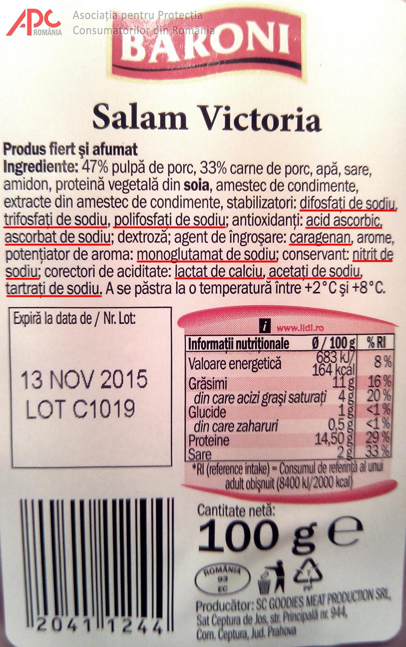 Studiu privind calitatea produselor din carne